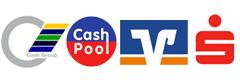 Geldautomatensuche Cash-Group, Cashpool, BankCard ServiceNetz, Sparkasse