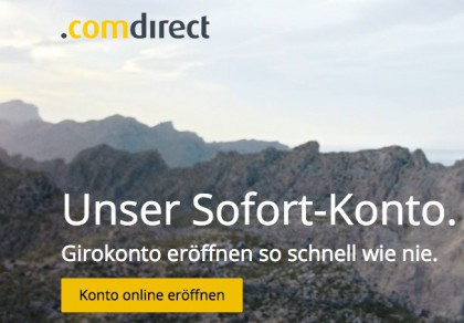 Sofort-Konto comdirect Bank