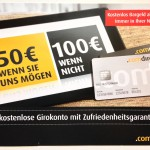 Girokonto mit Zufriedenheitsgarantie comdirect Werbung