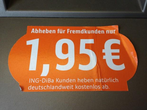 ING-DiBa Geldautomat Fremdgebühren