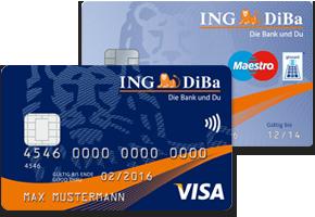ING-DiBa Visa und Girokarte