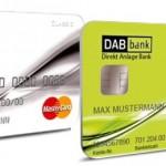 MasterCard Kreditkarte und Girocard DAB Bank