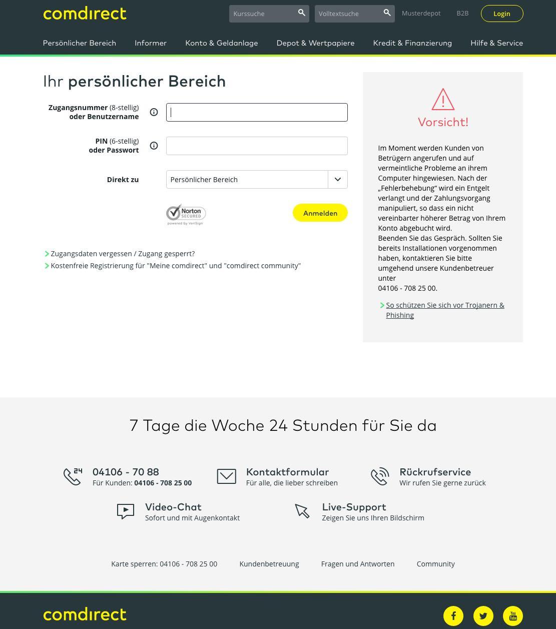 comdirect de online banking