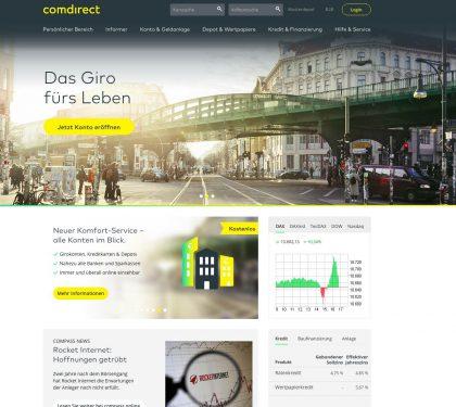 comdirect Online Banking Startseite