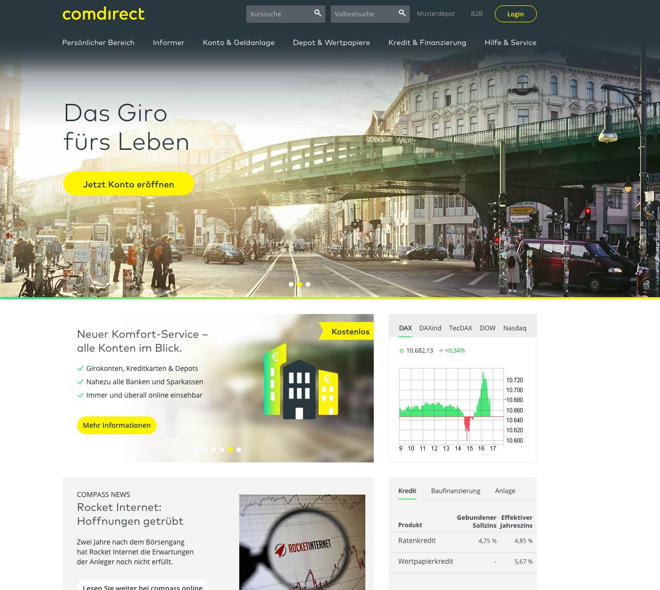 comdirect girokonto test