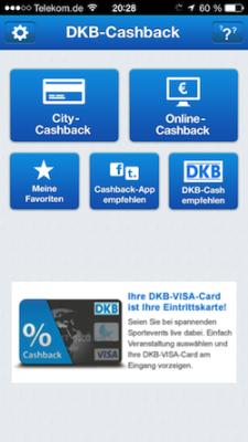 DKB City und Online Cashback