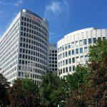 DiBaDu Bank ING-DiBa Filiale Frankfurt: Zentrale der grössten deutschen Direktbank ING-DiBa in Frankfurt am Main, Nähe Messe