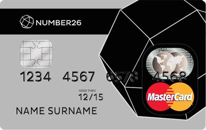 Number26 MasterCard Kreditkarte
