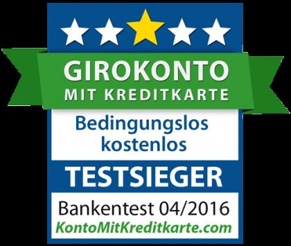 Bestes Girokonto mit Kreditkarte Test