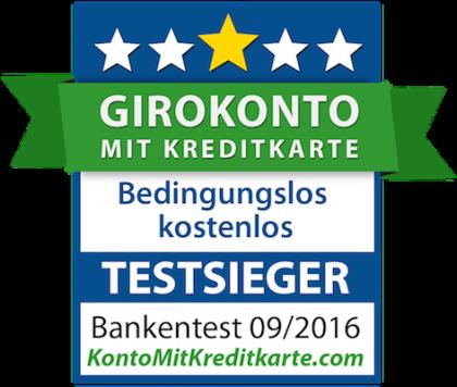 Bestes Girokonto mit Kreditkarte - Test 2016-217