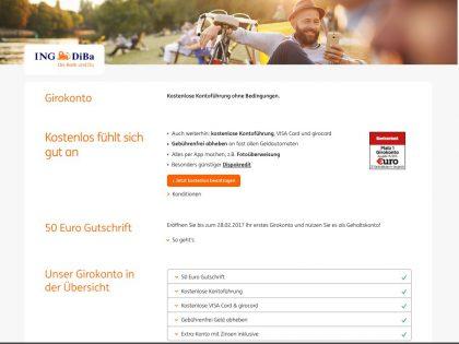 ING-DiBa Girokonto Eröffnung