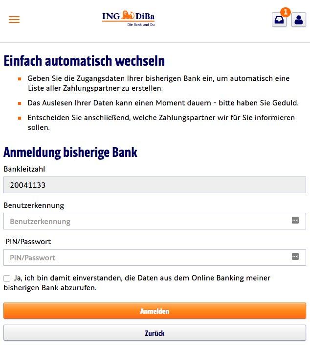 Girokonto Der Ing Diba Logo: Bester Online-Kontowechsel Für