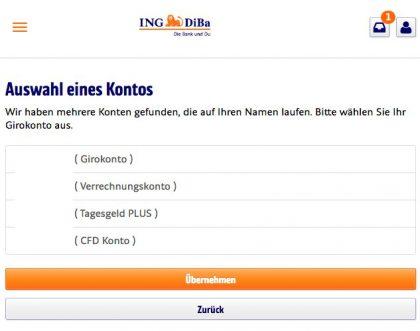 Kontowechsel-Service ING-DiBa DiBaDu Bank