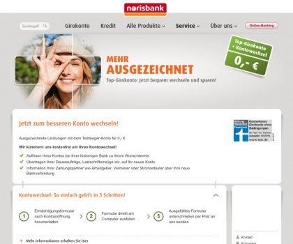 Kontowechselservice Norisbank Portal