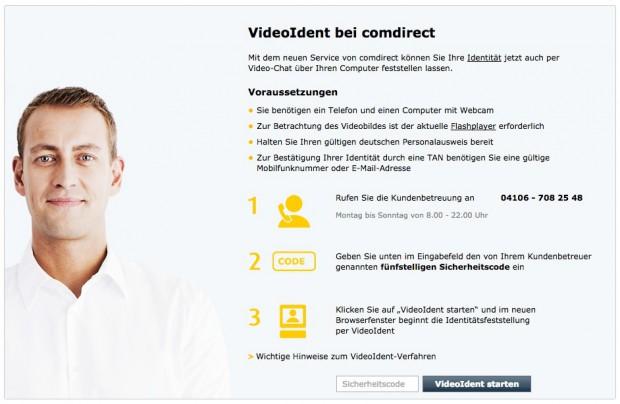 comdirect Girokonto per VideoIdent eröffnen statt PostIdent