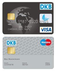 Girokonto girocard und Kreditkarte für Zahlungsverkehr