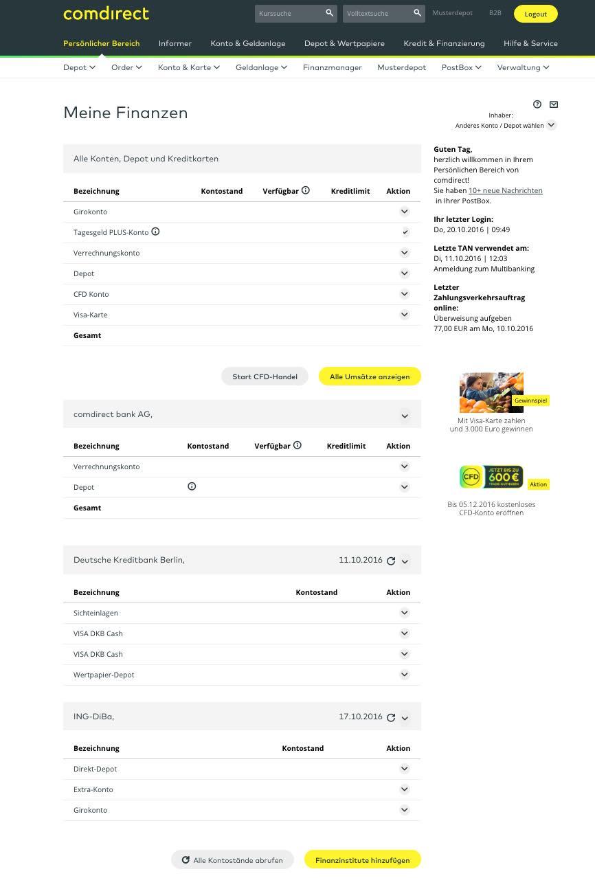 Kostenloses Comdirect Girokonto Mit Visa Kreditkarte Im Test 2019