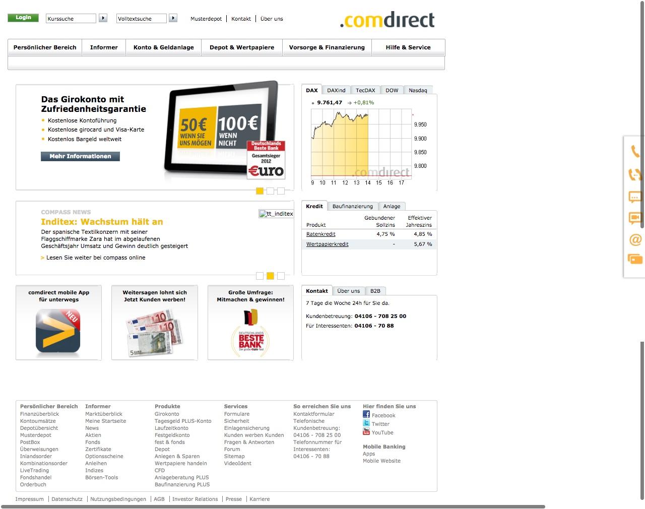 comdirect Bank Konto Online Banking alt