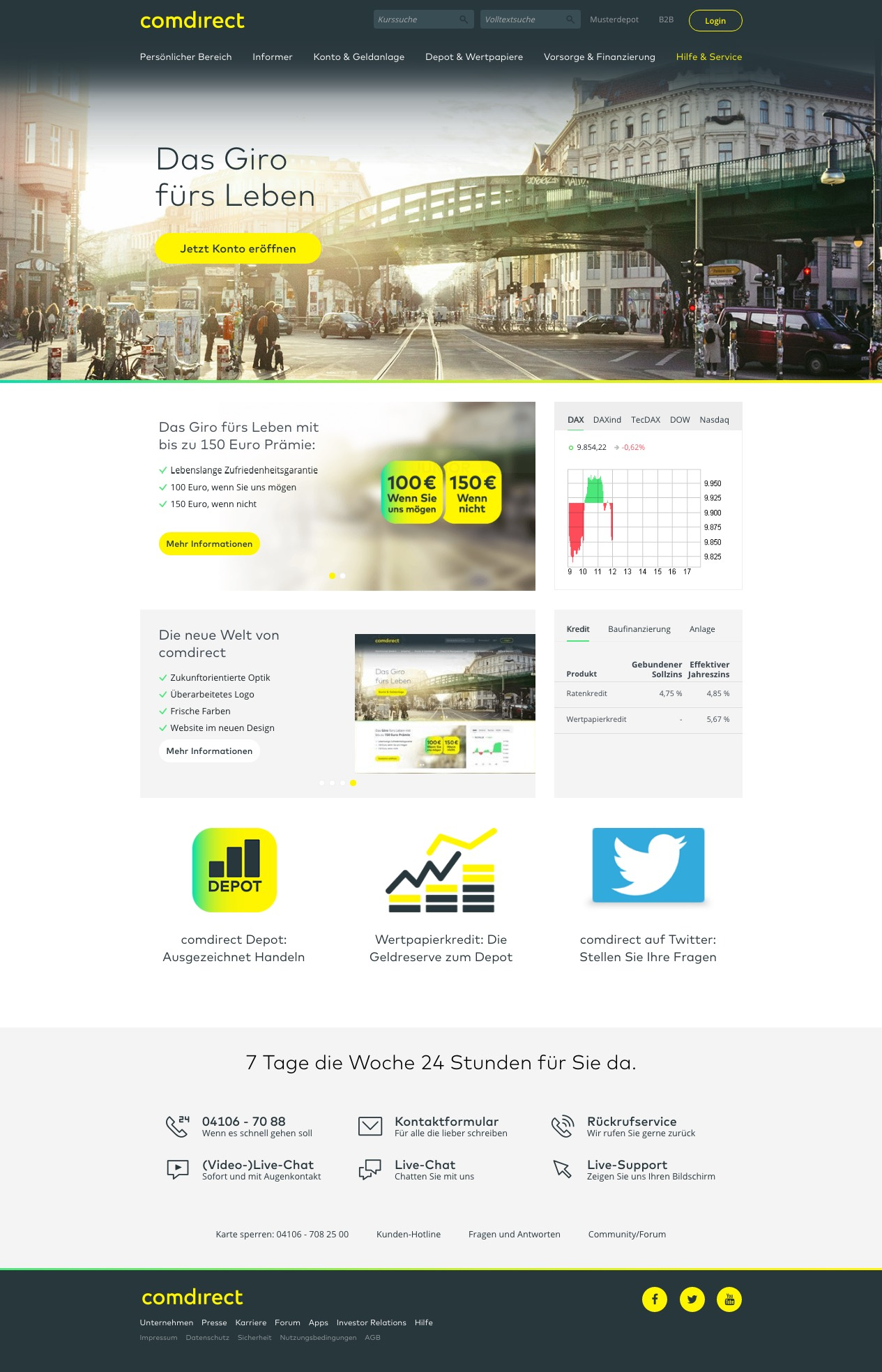 comdirect Bank Konto Online Banking neu