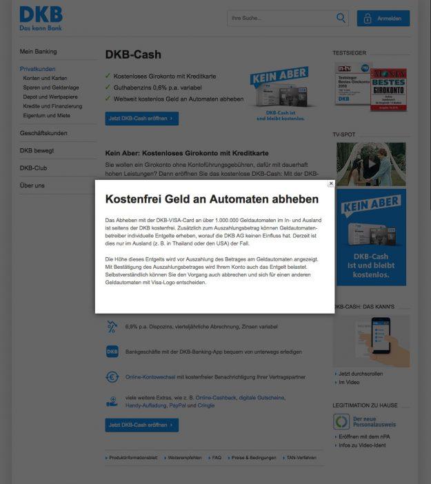 DKB Konto Aber beim Geldautomaten