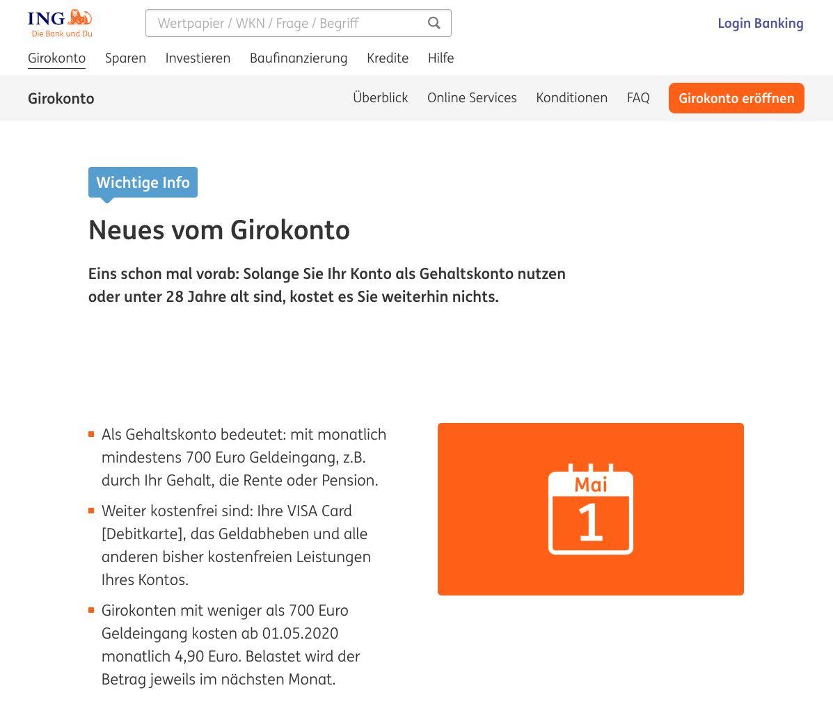 ING-Girokonto 2020