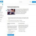 Kontowechselservice DKB Deutsche Kreditbank kurz erklärt