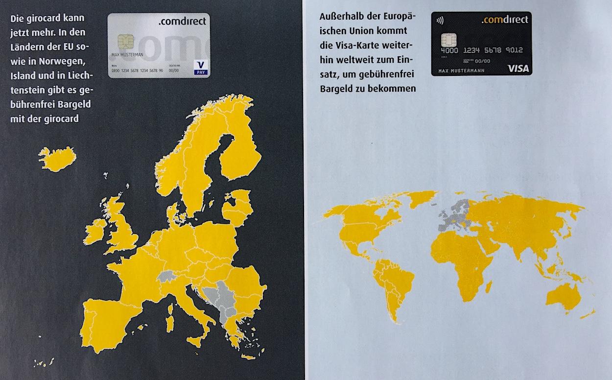 Visa Karte Comdirect.Mit Der Gratis Comdirect Kreditkarte Und Girocard Kostenlos Bargeld