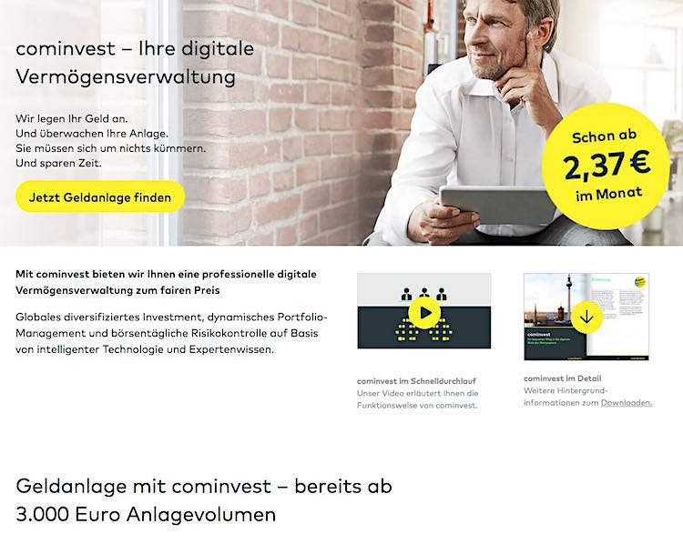 Digitale Vermoegensverwaltung-Comdirect Bank Robo-Advisor