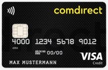 Echte Kreditkarte Comdirect Visa Card