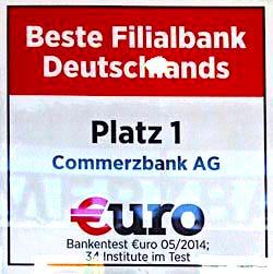 Commerzbank Beste Filialbank Testsieger