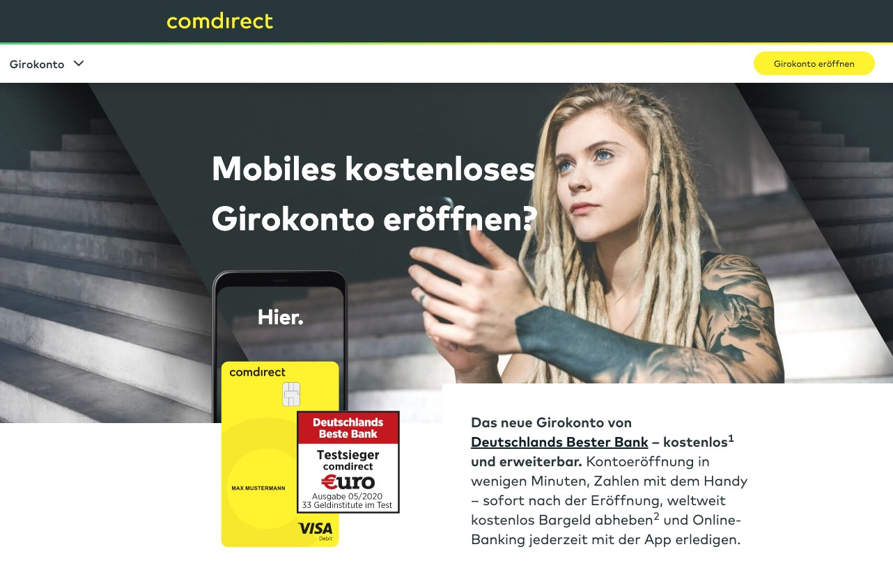 Comdirect neues Girokonto-Werbung
