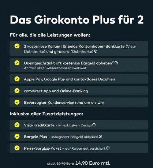 Gemeinschaftskonto Girokonto-Plus Comdirect