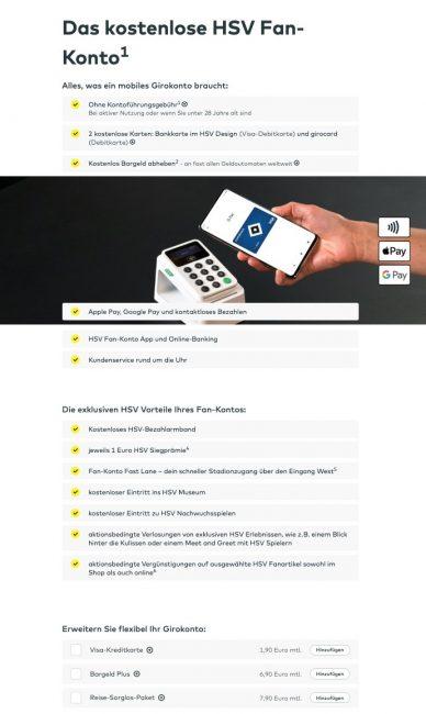 Kostenloses HVB-Fan-Konto Comdirect Girokonto (Quelle: Comdirect.de)